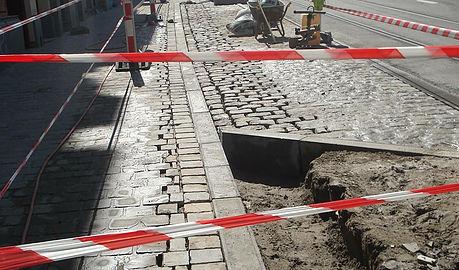 Les trottoirs de l'av Buyl